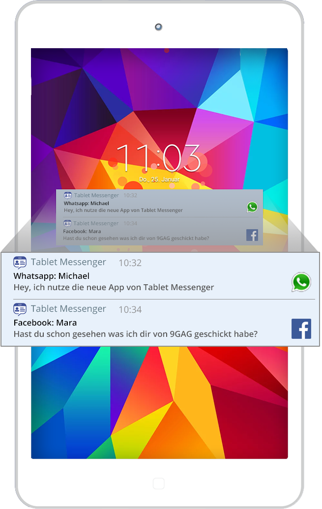 messenger apps for samsung tablet
