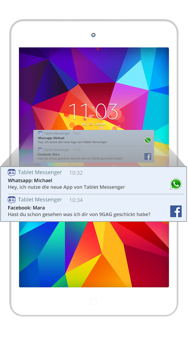 tablet messenger for whatsapp